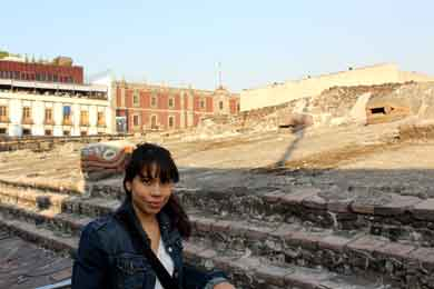 Erica Ledesma, on her Study Abroad year in Mexico City.