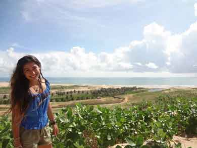 Niria Garcia during her Study Abroad research trip to Brazil.